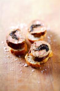Foie gras poêlé aux pruneaux