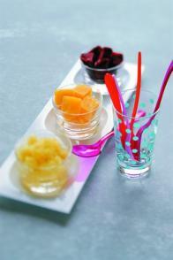 Granités et petits carrés glacés pur fruit