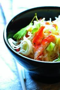 Salade de concombre et de crabe aux vermicelles