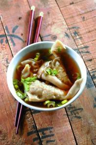 Soupe aux raviolis chinois