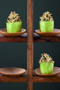 Mini-concombres farcis aux noix
