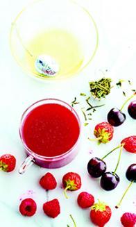 Cocktail de fruits rouges au thé vert