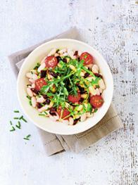 salade de haricots blancs aux deux tomates