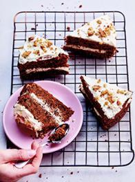 Carrot cake diététique
