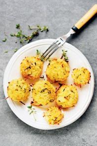 Muffins de pommes de terre râpées