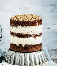 Naked cake chocolat, glace vanille