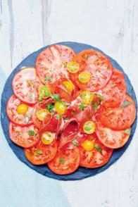 Salade de tomates à la coppa