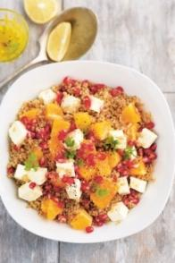 Salade de quinoa, orange et grenade