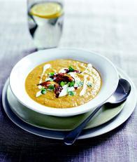 Soupe épicée panais et carottes