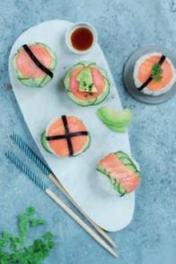 Sushis cupcakes au saumon fumé
