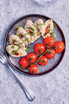 papillotes de poulet mascarpone et tomates