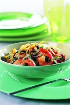 Salade de pousse de soja aux crevettes