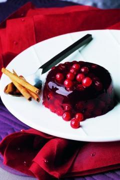 Aspics d'airelle au vin rouge