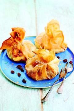 Aumônières pommes et raisins  secs