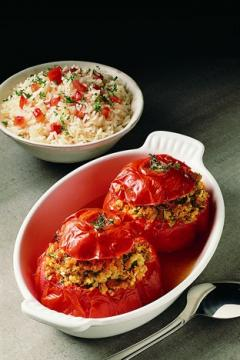 Tomates farcies charcutières