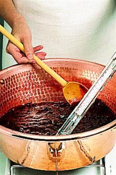 La cuisson des marmelades