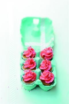 Cupcakes à la rose et à la pistache