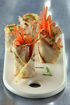 Pitas au hoummos et aux carottes