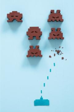 Space Invaders au caramel au beurre salé
