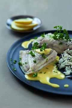 Turbot poché hollandaise