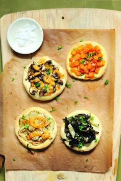 Pizzettes aux légumes d'hiver