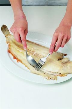 Préparer un poisson plat cuit