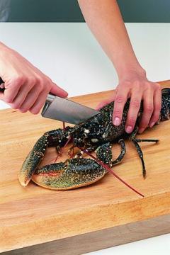 Découper un homard vivant