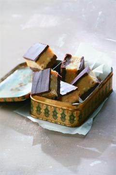 Carrés au caramel fondant