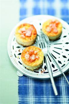 Petites crèmes façon cheesecake aux crevettes pimentées