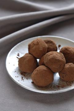 truffes au chocolat noir