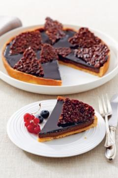 Tarte au chocolat praliné