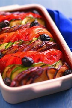 Tian provençal aux olives noires