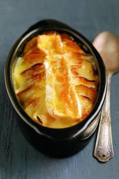 Gratin de pommes fondantes au camembert