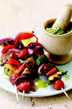 Brochettes de légumes d'été