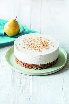 Cheesecake aux spéculoos et à la poire