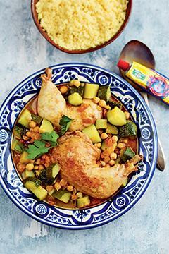 Couscous de poulet aux courgettes
