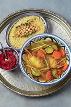 Couscous au poulet et légumes au gingembre