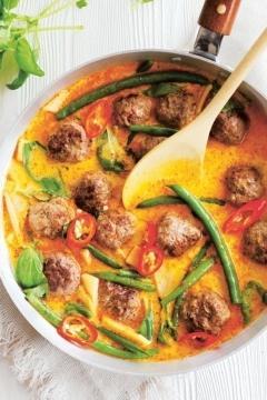 Curry thaï aux boulettes de viande