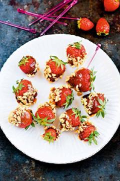 fraises au caramel