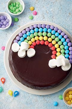 Gâteau arc-en-ciel aux Smarties