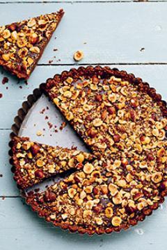 Tarte chocolat-noisette