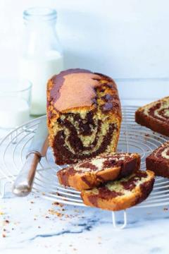 Gâteau marbré chocolat-coco
