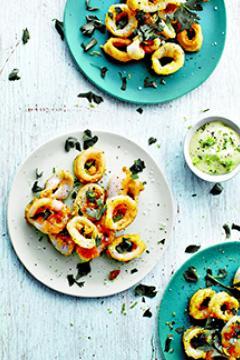 Calamars mayo au citron vert