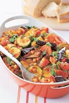 Légumes d'été aux pois chiches