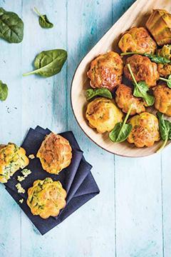 Mini-muffins épinards-roquefort