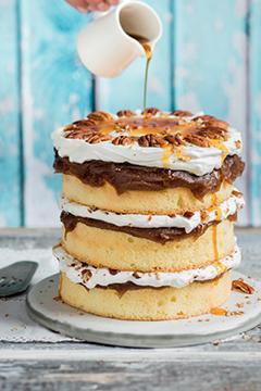 Naked cake crème de marrons