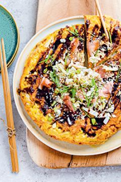 Okonomiyaki (omelette au chou)