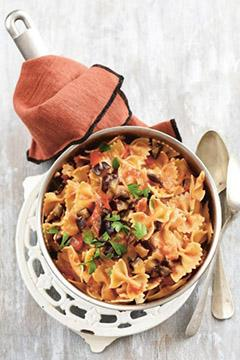 One Pot Pasta aux aubergines