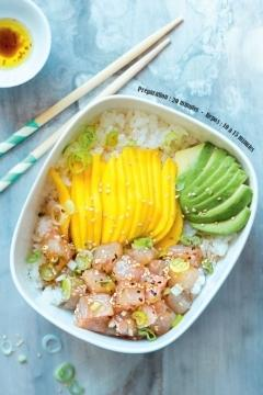 Poke bar et mangue