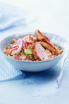 Salade de quinoa et blancs de poulet